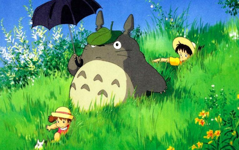 龙猫的头上怎么有片树叶呢